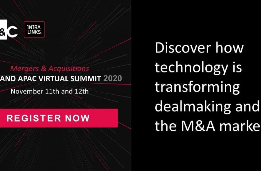 SS&C Intralinks Virtual EMEA and APAC M&A Summit