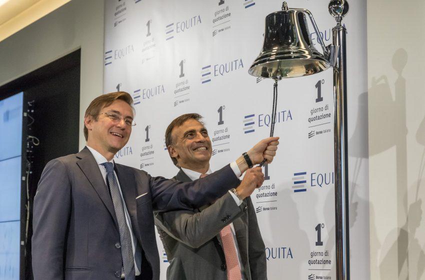 Equita debutta in Borsa in rialzo del 9,3%