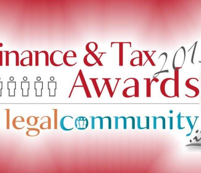 Legalcommunity Finance & Tax Awards 2015, i Vincitori