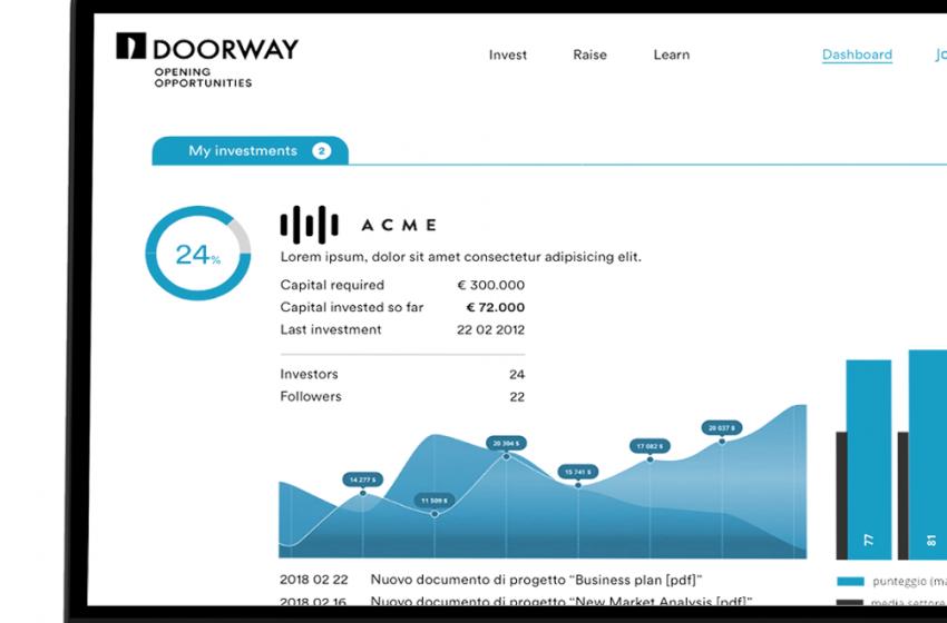 Al via Doorway, la prima piattaforma di equity investing per investitori. La presentazione a Bologna