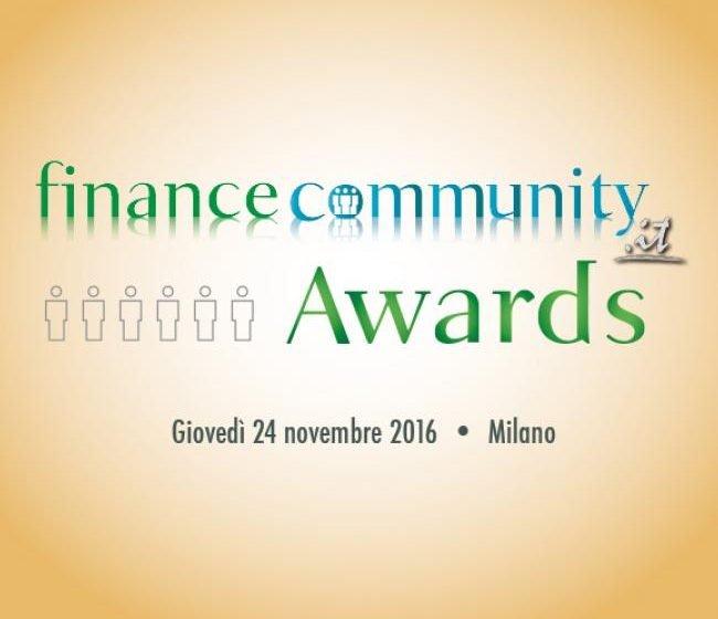 Financecommunity Awards 2016, i Vincitori